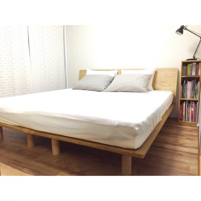すっきりコンパクト☆空間を上手に使える無印良品のベッド