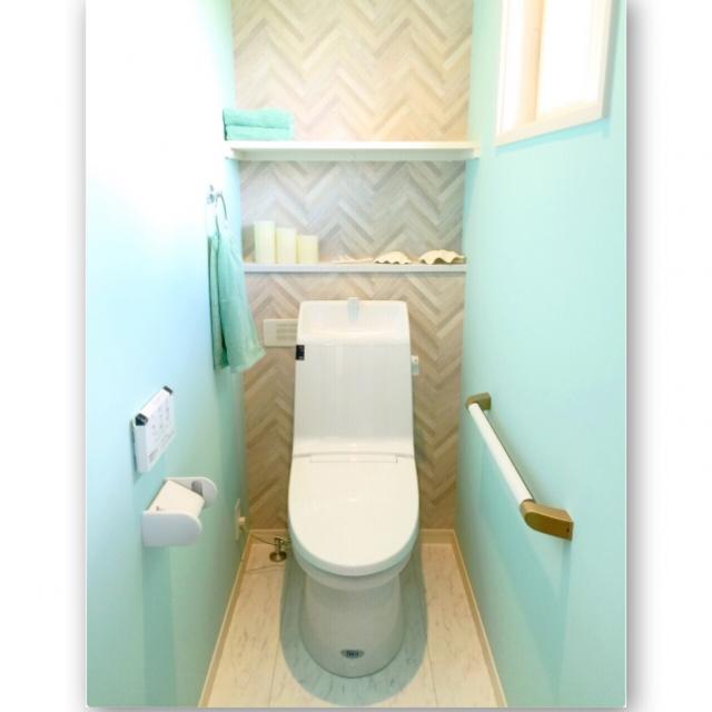 トイレもおしゃれに♡壁紙やタイルで違った空間に変身させちゃおう