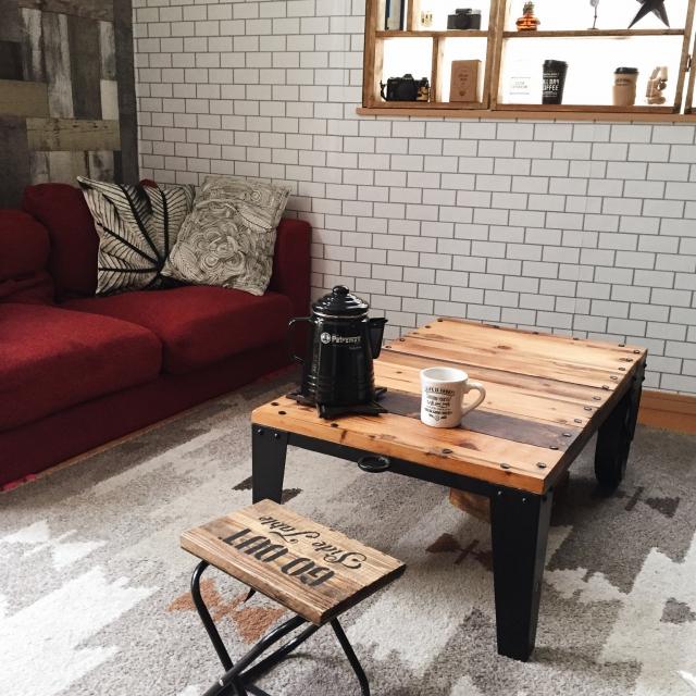 折り畳み椅子と廃材で作る 「Go Outside Table」by RHplusさん
