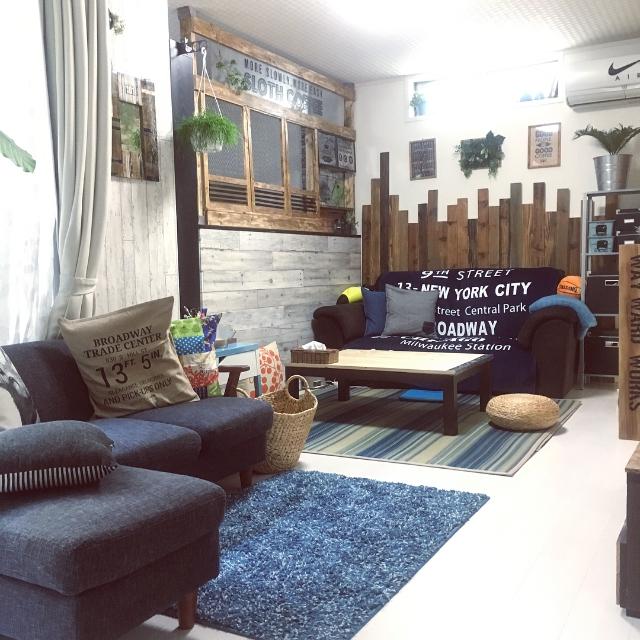 Overview,IKEA,グリーン,green,100均,DIY,カフェ風,リメイク,ニトリ,板壁,モニター,模様替え,ニコアンド,しまむら,収納棚,しゃれとんしゃあ会,関西好きやねん会,夏インテリア,waywardworks,NOCEのソファー,インスタ→Shakitro,GREENのある暮らし,モニター当選,ニトリ自然素材モニターのインテリア実例 | RoomClip (ルームクリップ)