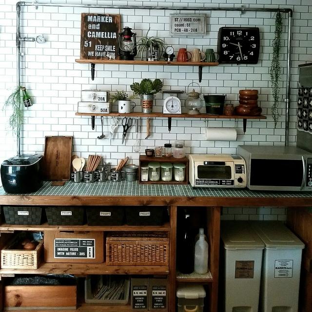 キッチンカウンターをもっと使いこなす♪DIY&アレンジ法