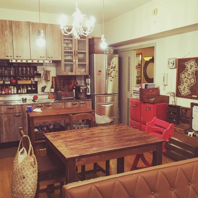 Overview,カリモク60,ダイニングテーブル&チェア,賃貸でも諦めない!,子どもと暮らす,カフェ風インテリアを目指して,ルーマニアンレース,いろいろなインテリアが好きのインテリア実例   RoomClip (ルームクリップ)