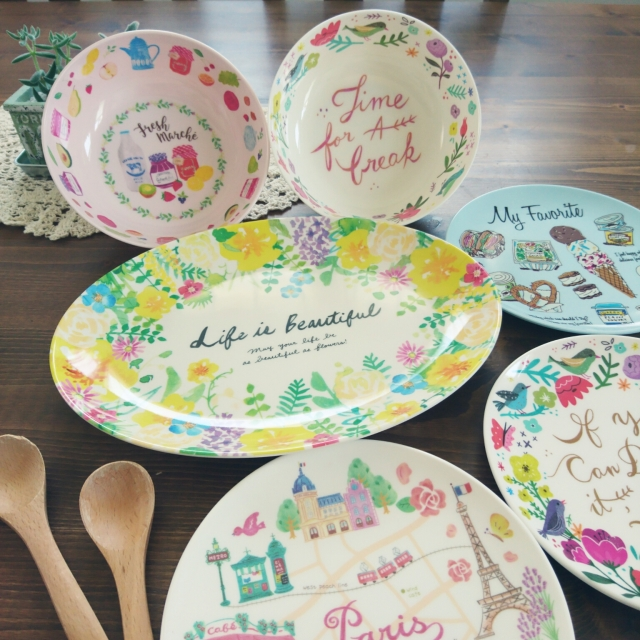 食卓を華やかに♡今すぐ欲しい100均の平皿、プレート皿