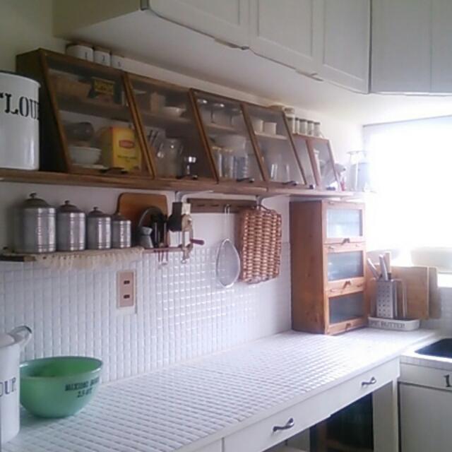 キッチンにモザイクタイル♪カフェ風カウンターづくり by meroさん
