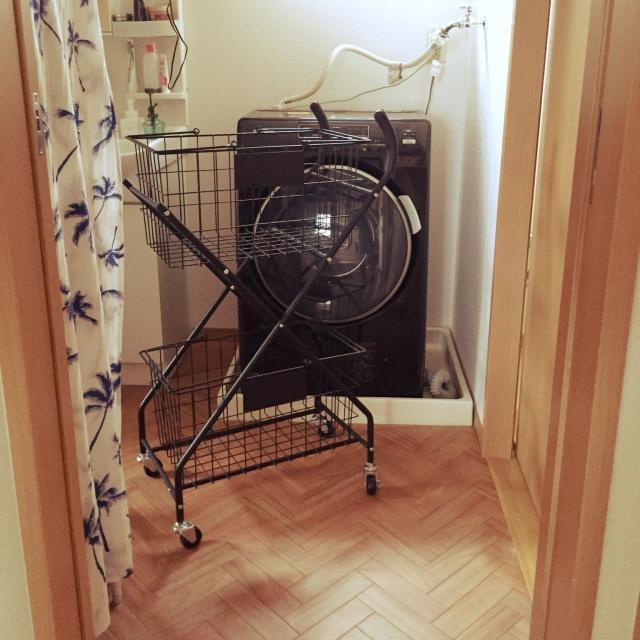 お気に入りの洗濯かごが活躍☆ランドリーをセンスアップ