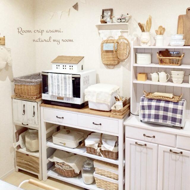 「白×木×カゴ。ほっこりカフェな雑貨屋さんキッチン」 by asamiさん
