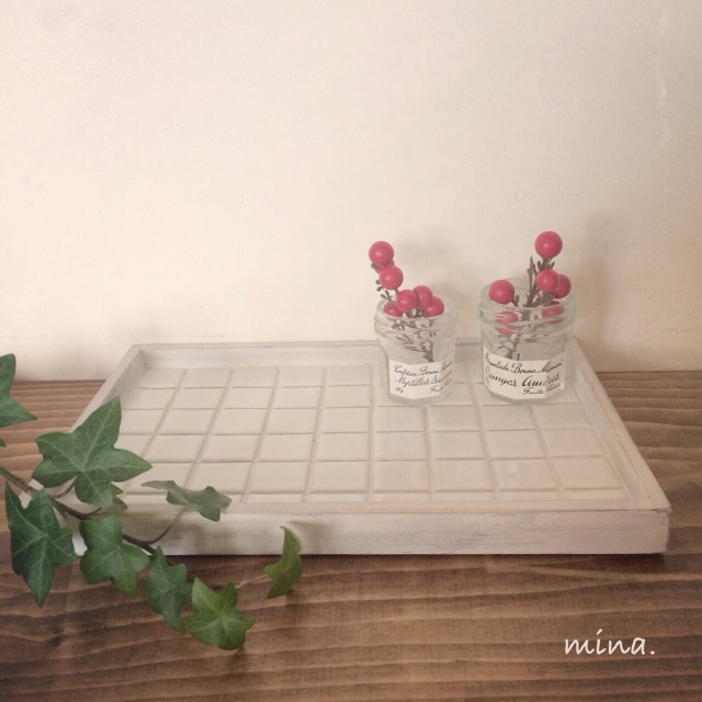 3STEPで簡単♡タイルカフェトレイDIY by atominaさん