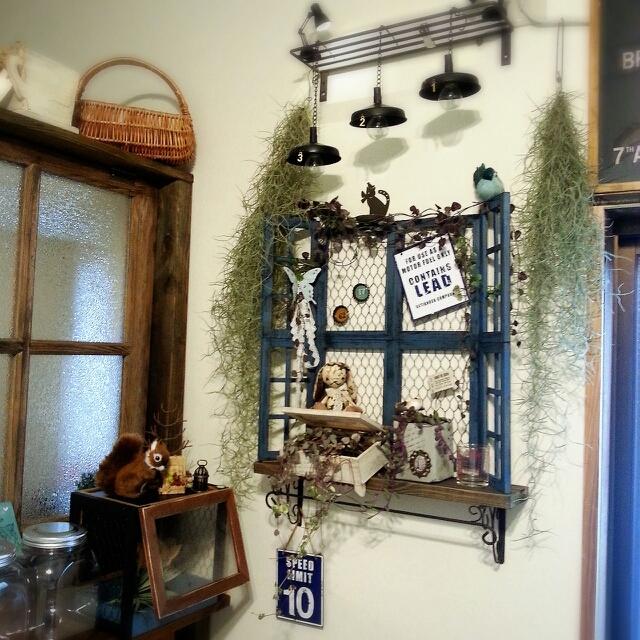 雑貨を素敵に魅せる窓枠DIY