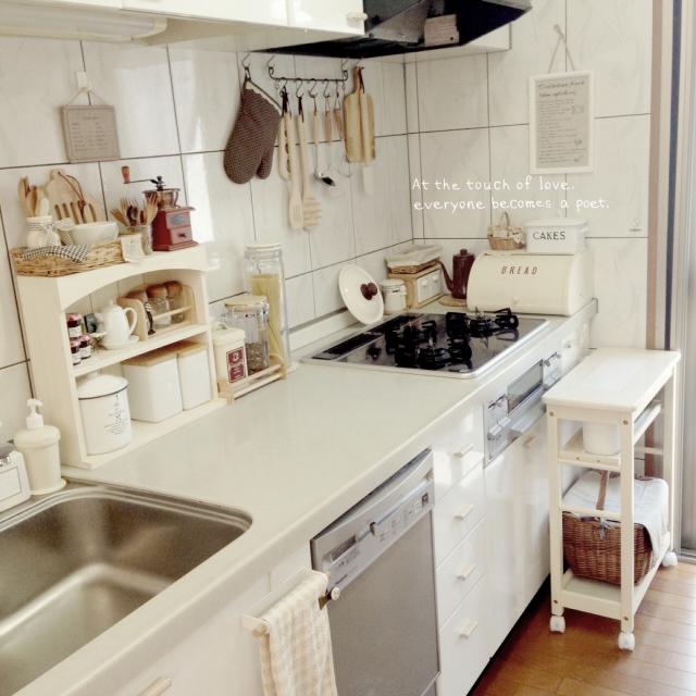 Kitchen,キッチン雑貨,マンション ナチュラル,ナチュラルが好き,ナチュラル同盟♡のインテリア実例 | RoomClip (ルームクリップ)