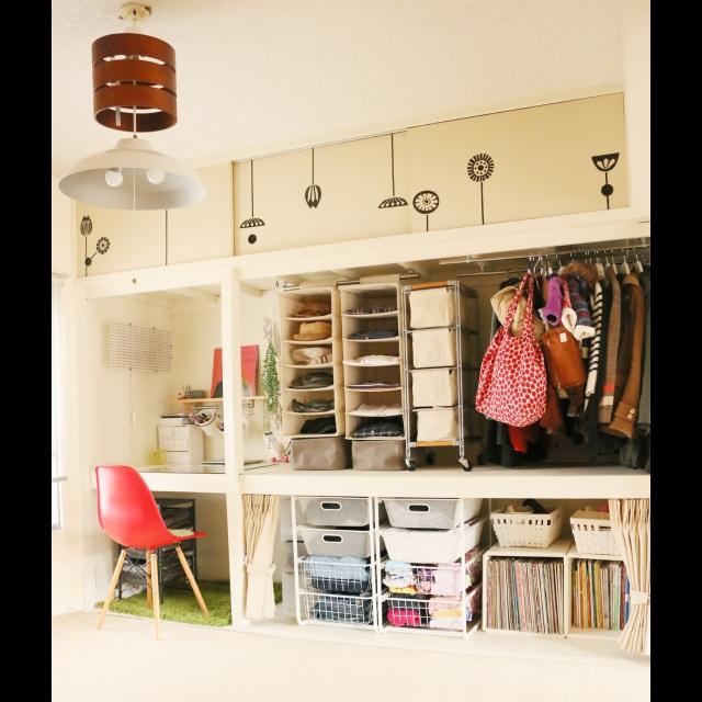 男性で、、家族住まいのセルフリノベーション/無印良品/DIY/IKEA/押入れ/団地部…などについてのインテリア実例を紹介。