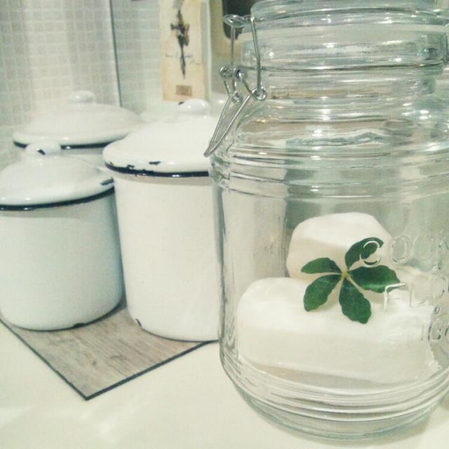 キッチン&洗面所を100均の瓶で雰囲気アップ☆