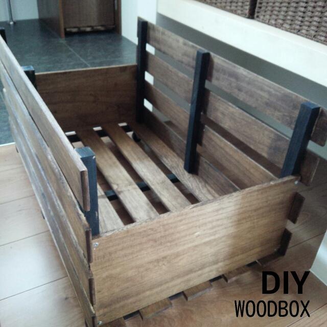大容量収納♪すのこで作る男前ウッドボックス by Akaneさん