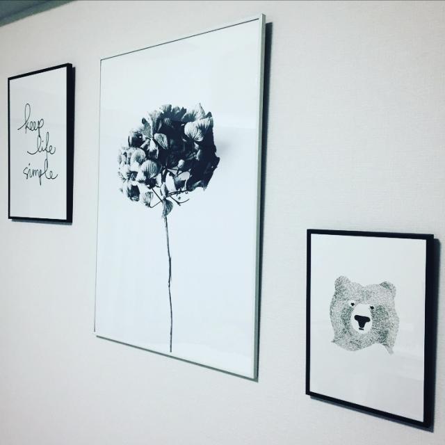 「24m2。視覚効果で広く◎ホワイト×植物色の映える部屋」 by miitanさん