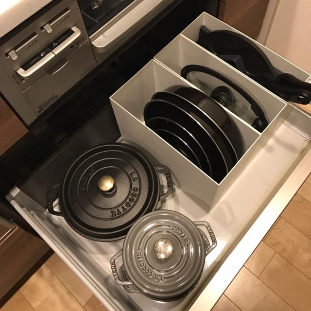無印良品のファイルボックスで!キッチン引き出し整理術