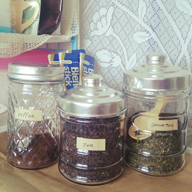 お家カフェ♡セリアのアイテムで茶葉&コーヒーの保管術