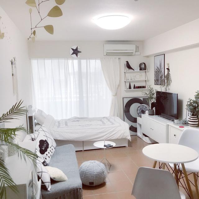 IKEAでシンプルに☆一人暮らしのお部屋をコーディネート