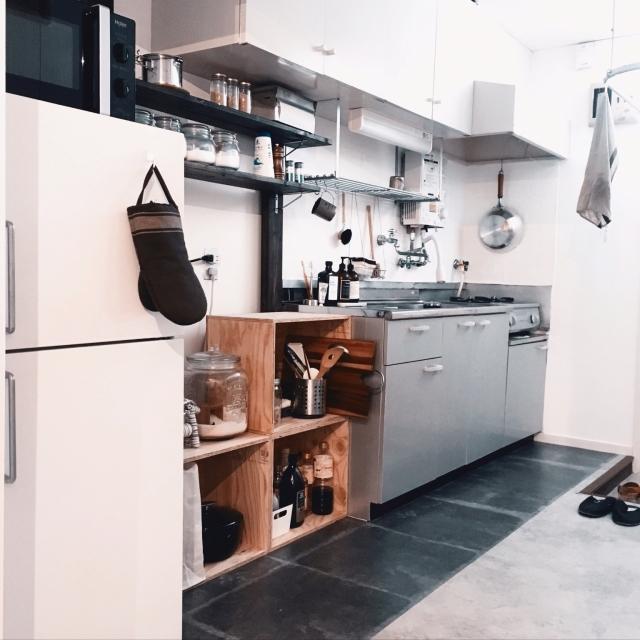 キッチン収納にも活躍!みんなの木箱DIYが暮らしを支える