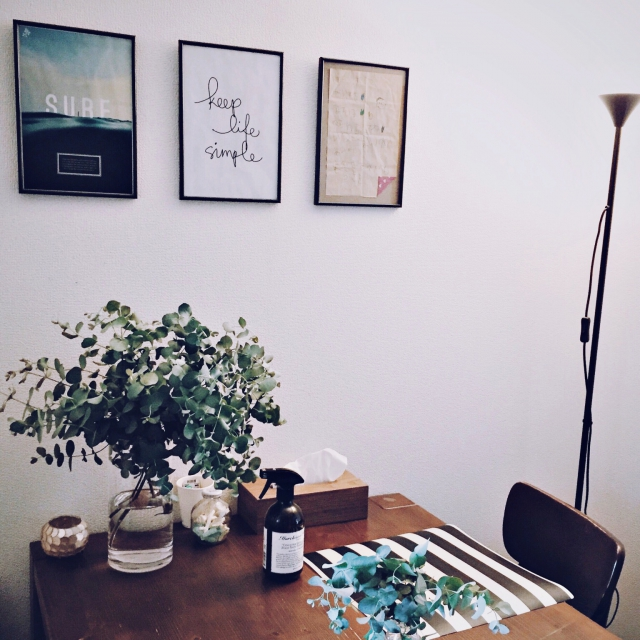 Overview,観葉植物,ダイソー,照明,IKEA,100均,ニトリ,モノトーン,男前のインテリア実例 | RoomClip (ルームクリップ)