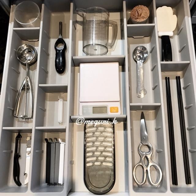 見習いたい♡収納上手さんのキッチン引き出し仕切り実例集