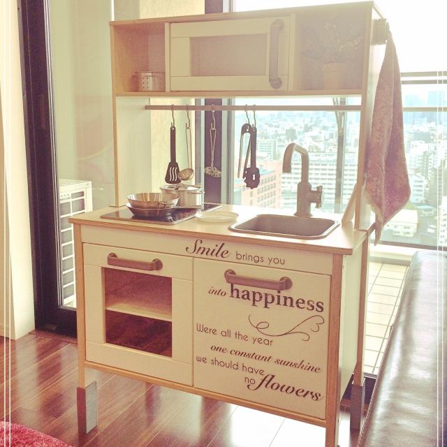 本物そっくり!IKEA のおままごとセットで夢のキッチン♪