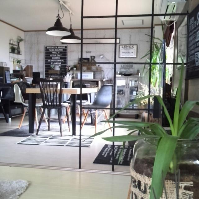 開放感ある間仕切り。黒グリッド線美で魅せる新しいパーテーションのカタチ by kei.hiroro2さん