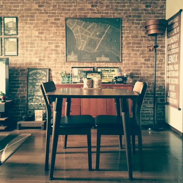 ブルックリンカフェスタイルのレンガ壁がある部屋まとめ