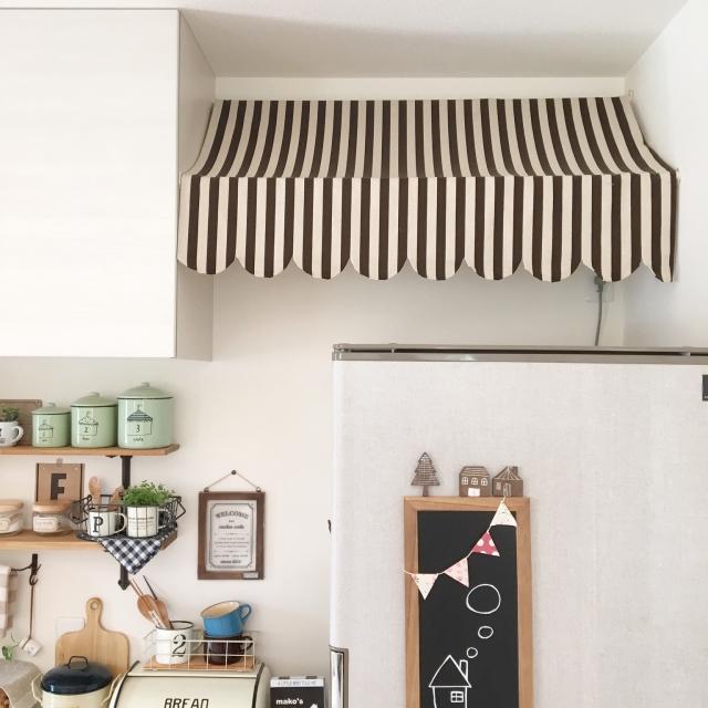 冷蔵庫上の収納をおしゃれに♪見た目良くしまうアイデア集