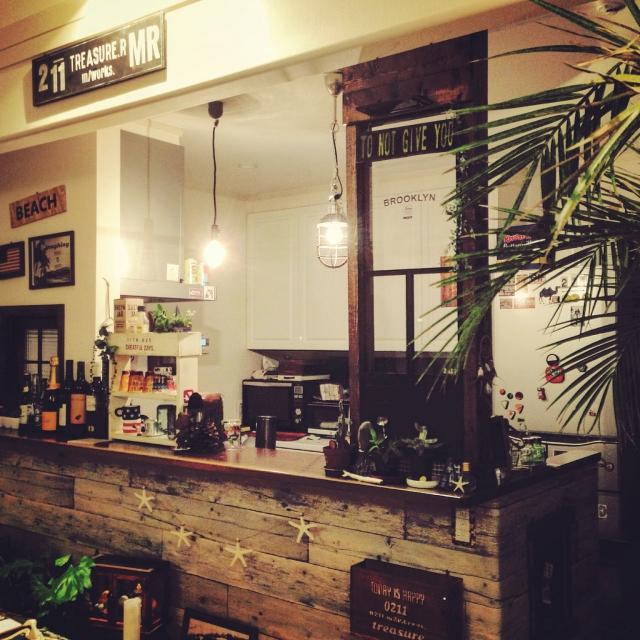 ディアウォールで作るカフェ風カウンター by Mikaさん