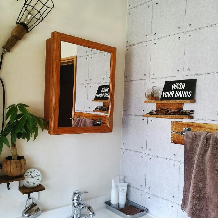 100円リメイクシートでレンガ風やコンクリ風にアレンジ♪ | RoomClip mag | 暮らしとインテリアのwebマガジン