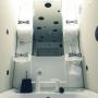 Bathroom/モノトーン/賃貸/モノクロ/ドット/賃貸マンション/築30年超/フライングタイガーコペンハーゲン/賃貸でも諦めない!/モノトーンインテリア/モノクロインテリアに関連する部屋のインテリア実例