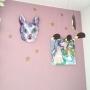 Lounge/モビール/星/ナタリーレテ/アリス/イマジンウォールペイント/セルフペイントの壁に関連する部屋のインテリア実例
