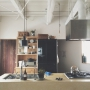 Kitchen/植物/北欧/ヤコブセン/シンプル/北欧インテリア/flame/凸ランプ/スタンレー/フレイム照明/大川家具製作所/フレイム/植物のある暮らしに関連する部屋のインテリア実例