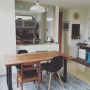 Kitchen/IKEA/ラグ/フェイクグリーン/ダイニングキッチン/模様替え/広松木工/ほぼIKEA/イケアキッチンに関連する部屋のインテリア実例