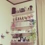 Lounge/観葉植物/雑貨/ドライフラワー/リメ缶/ペンキ/リメ瓶に関連する部屋のインテリア実例
