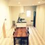 Kitchen/ニッチ/新築/広松木工/LIXIL/Dフロア/ミニマリストに憧れて/猫トイレ入り口に関連する部屋のインテリア実例