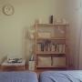 Bedroom/無印良品/絵本/ミナペルホネン/minaperhonen/シンプルインテリア/こどもと暮らす。に関連する部屋のインテリア実例