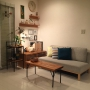Lounge/観葉植物/無印良品/IKEA/イケア/ソファ/北欧/北欧雑貨/北欧インテリア/鉄脚テーブル/IKEA 照明/NOYES/ワークランプ/無印良品 壁に付けられる家具/鉄脚テーブルDIY/変わらぬ風景に関連する部屋のインテリア実例