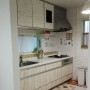 Kitchen/キャンドゥ/300coins/タイルシール/壁紙DIY/カントリー風/いつも、いいね!をありがとうございます♡/イケアの照明に関連する部屋のインテリア実例