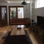 Lounge/無印良品/こたつ/チチカカ/男前/アデペシュ/ACME FURNITURE/フレイム照明/SQUARE♡/ねこと暮らす。/無垢 こたつに関連する部屋のインテリア実例