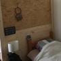 Bedroom/無印良品/照明/IKEA/DIY/セリア/2×4材/ディアウォールの壁/海を感じる部屋にしたい/賃貸でも諦めない((*´ω`*)ノに関連する部屋のインテリア実例