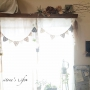 Lounge/観葉植物/ハンドメイド/DIY/編み物/ドライフラワー/ガーランド/かぎ針編み/いなざうるす屋さん/いなざうるす屋/RC兵庫支部/ナウイバデイ支局/プランツハンガー/カーテンレールボックス/Viergeに関連する部屋のインテリア実例