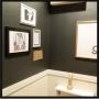 Bathroom/観葉植物/IKEA/雑貨/ハンドメイド/DIY/レトロ/セリア/#壁紙/#クロス/#モノトーン/#モノトーンインテリア/#オシャレに関連する部屋のインテリア実例