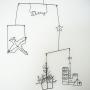On Walls/ナチュラル/植物/インテリア/雑貨/モビール/カフェ風/ワイヤークラフト/ネットショップ/アメブロやってます♪/シンプルインテリア/インスタやってます!/RC大阪支部/黒が好き/雑貨大好き♡/RCの皆さまに感謝♡/ネットショップやってます♫/mokiproductに関連する部屋のインテリア実例