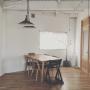 Overview/照明/植物/ダイニング/北欧/シンプル/北欧インテリア/枝もの/フレイム照明/大川家具製作所/フレイムに関連する部屋のインテリア実例