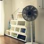 Overview/扇風機/バルミューダ/ランドリースペース/ランドリー収納/カインズホームのキャリコ/グリーンファンジャパンに関連する部屋のインテリア実例