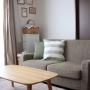Lounge/ソファー/無印良品/クッション/モモナチュラル/リネン/シンプル/クッションカバー/ミナペルホネン/momo natural/mina perhonen/シンプルインテリアに関連する部屋のインテリア実例
