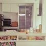 Kitchen/カリモク/北欧/エコカラット/ヘルシオ/タイルデッキ/バルミューダ/シンプルインテリア/ムーミン♡/スタジオヒッラ/カリモクサイドテーブルに関連する部屋のインテリア実例