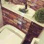 女性で、、家族住まいのトイレタンク隠し DIY/トイレタンク/トイレタンクを隠す/トイレ改造計画/トイレDIY…などについてのインテリア実例を紹介。