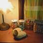 My Shelf/スヌーピー/ビーズ/昭和レトロ/古い家/ライトスタンド/フライングタイガーコペンハーゲン/海で拾った石/築60〜70年に関連する部屋のインテリア実例