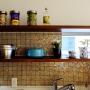 女性で、、家族住まいのペルゴラ/ロールストランド/観葉植物/壁付けキッチン/sicis/タイルキッチン…などについてのインテリア実例を紹介。